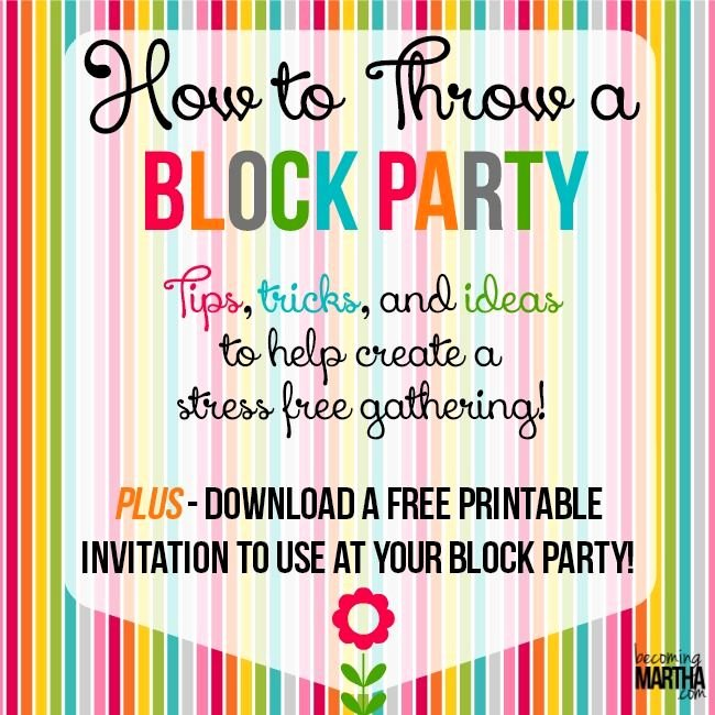 Block Party Flyer Templates Inspirational How to Throw A Block Party Printable Invitation Template