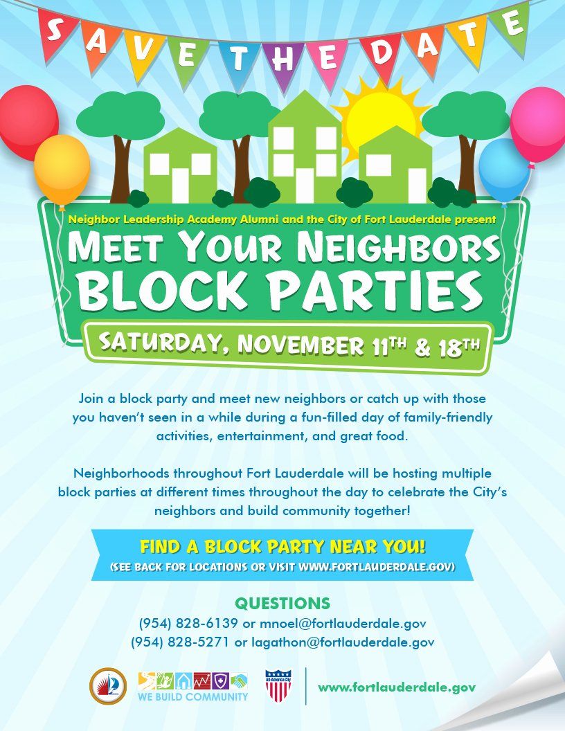 Block Party Flyer Templates Luxury City Of fort Lauderdale Fl event Calendar
