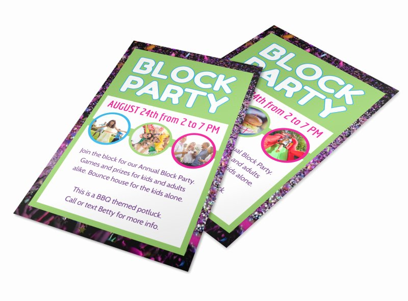 Block Party Flyers Templates Awesome Fun Block Party Flyer Template