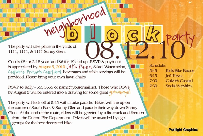 Block Party Flyers Templates Awesome Invite124