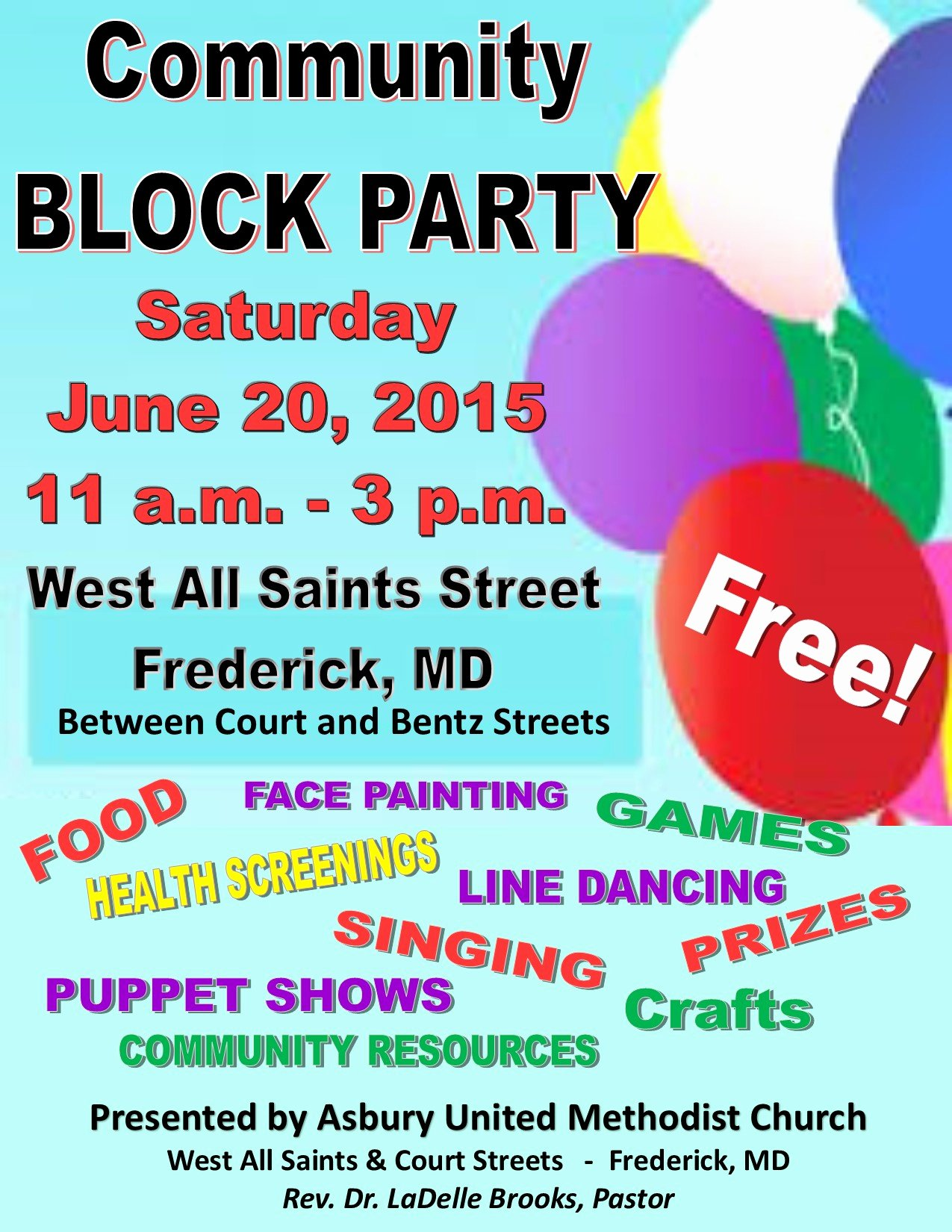 Block Party Flyers Templates Best Of asbury United Methodist Church Munity Block Party—june 20 2015