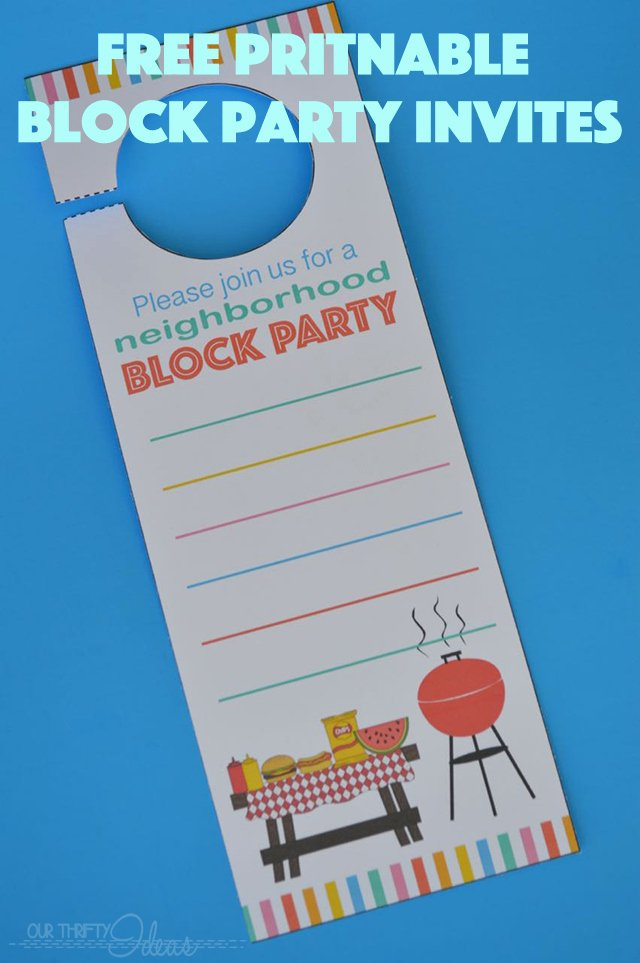 Block Party Flyers Templates Best Of Neighborhood Block Party Invitation Free Printable Our Thrifty Ideas