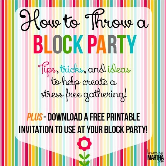 Block Party Flyers Templates Elegant How to Throw A Block Party Printable Invitation Template