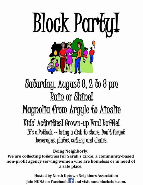 Block Party Flyers Templates Unique Uptown Update Nuna Block Club Block Party Ing Up