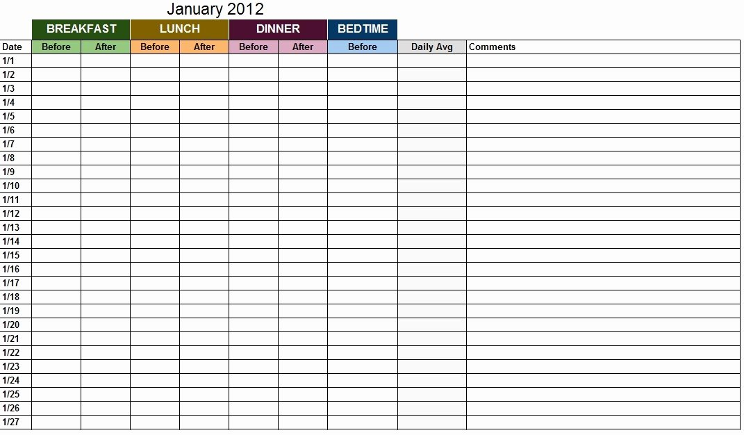 Blood Sugar Log Excel Awesome Blood Sugar Log Template Sample