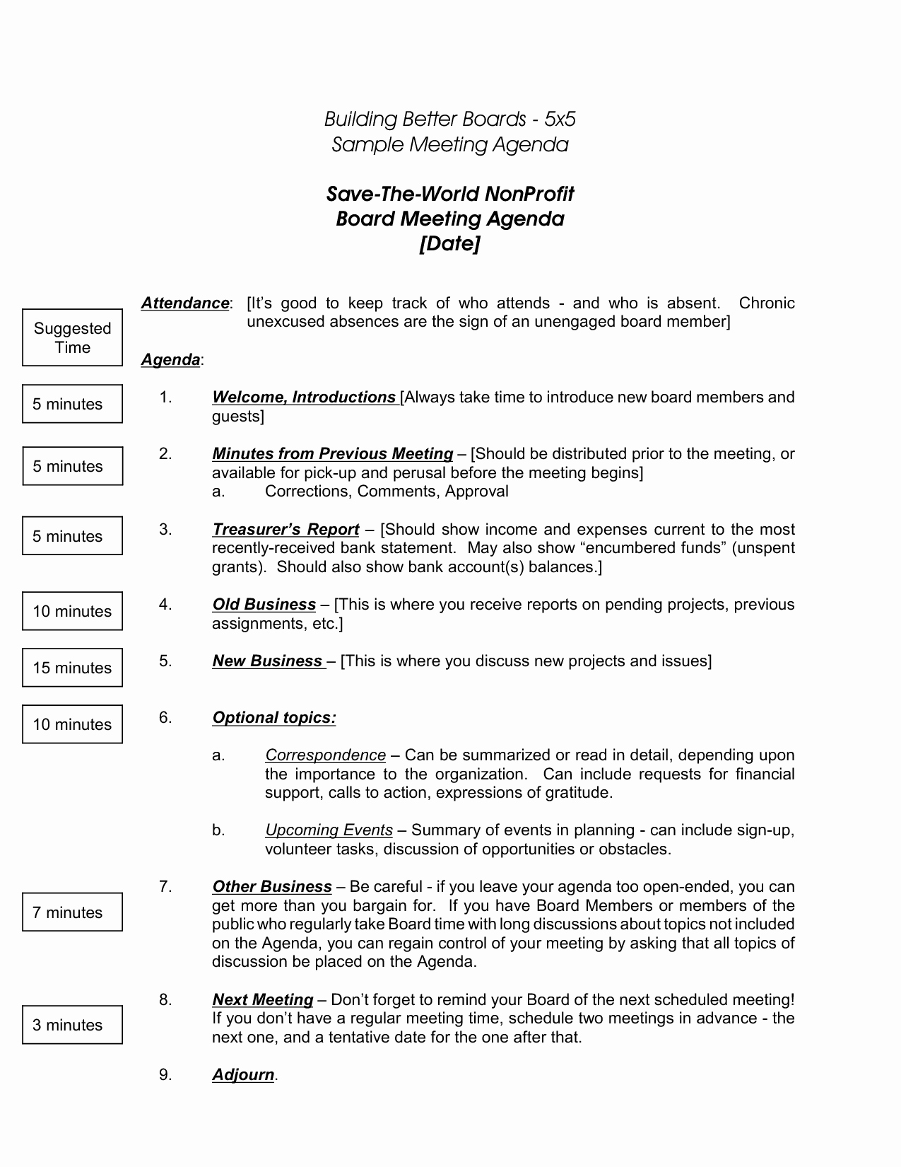 Board Of Directors Meeting Agenda Lovely Non Profit Board Directors Meeting Agenda Template Tutore