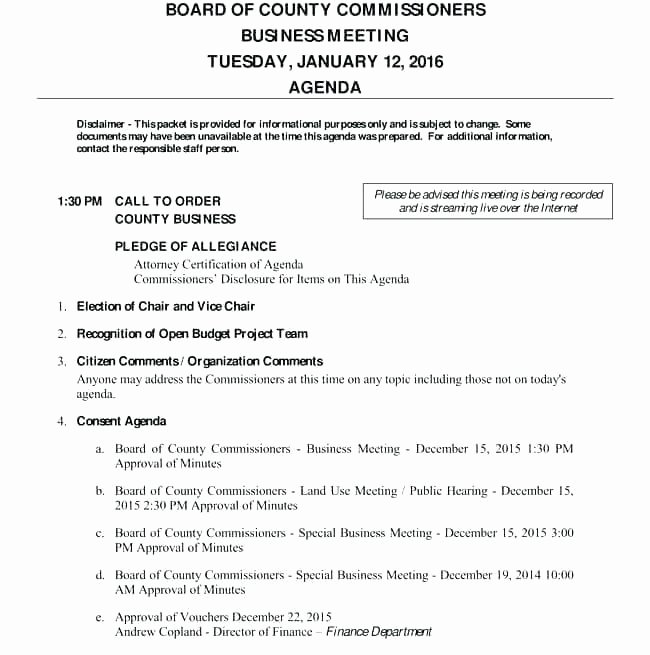 Board Of Directors Meeting Agenda New Board Meeting Agenda Template