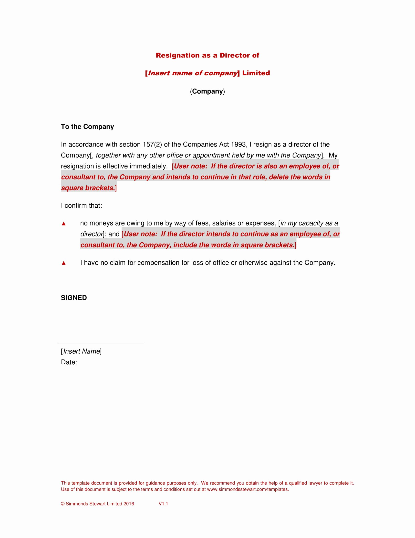 Board Of Directors Resignation Letter Fresh Board Resignation Letter with Examples In Pdf