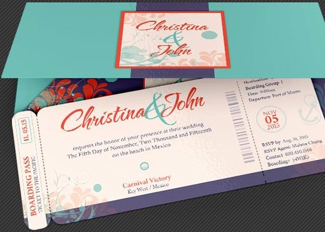 Boarding Pass Invitation Template Awesome Wedding Pacific Boarding Pass Invitation Template