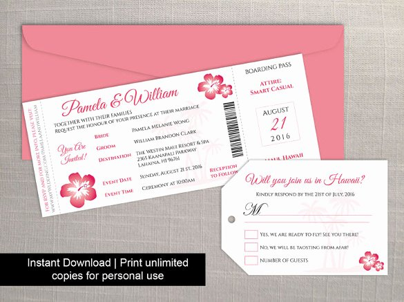 Boarding Pass Invitation Template Beautiful 29 Boarding Pass Invitation Templates Psd Ai Vector Eps
