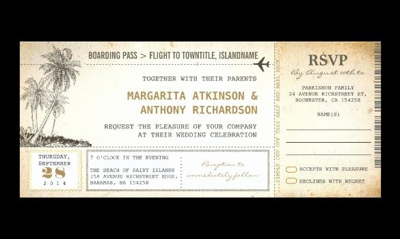 Boarding Pass Invitation Template Free Beautiful 20 Boarding Pass Invitation Templates Free Download