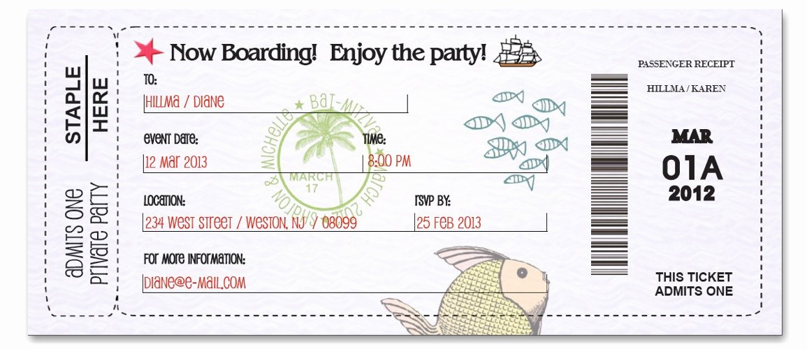 Boarding Pass Invitation Template Free Fresh Boarding Pass Background Custom Passport Invitations