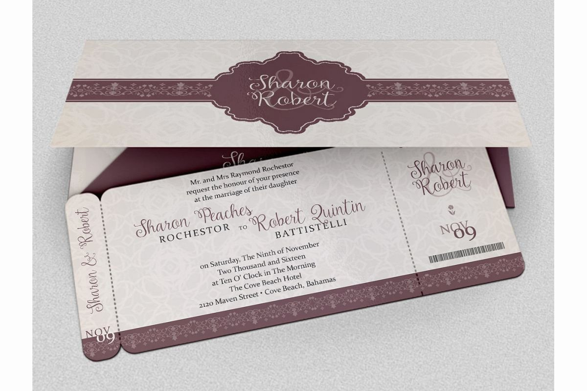 Boarding Pass Invitation Template Free Luxury Wedding Boarding Pass Invitation Template