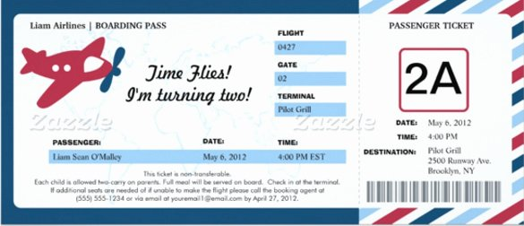Boarding Pass Invitation Template Free New 27 Of Boarding Pass Template Microsoft
