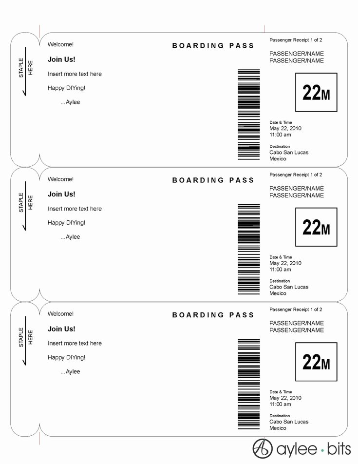 Boarding Pass Invitation Template Free Unique Boarding Pass Invitation Template by Ayleebits Lucas 5th Birthday