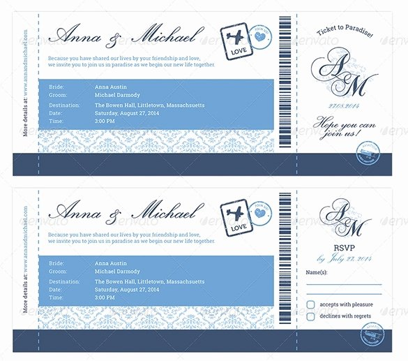 Boarding Pass Invitation Template Fresh Boarding Pass Wedding Invitations Template Cobypic