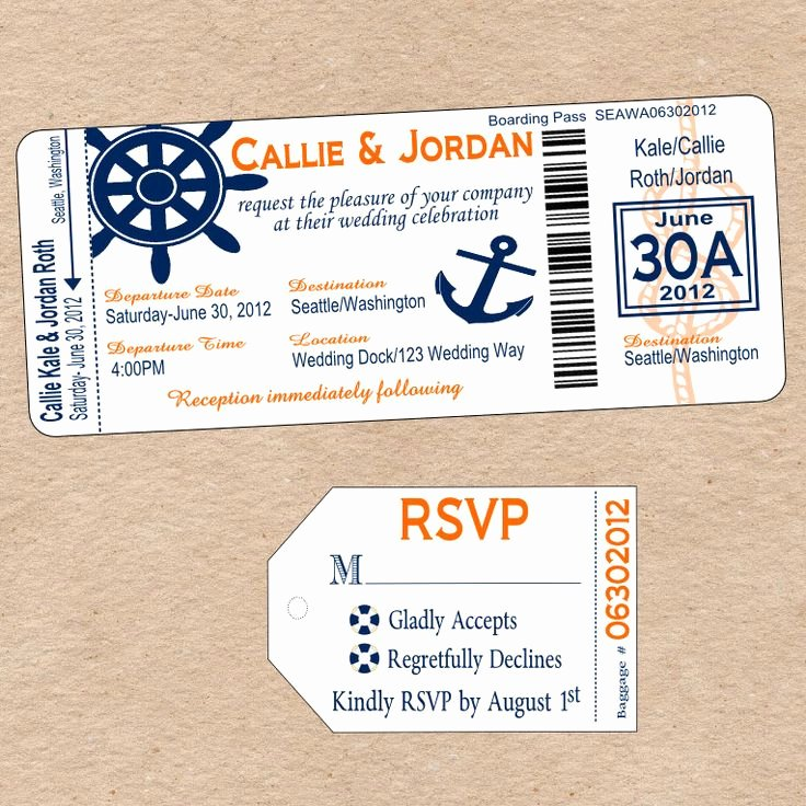 Boarding Pass Invitation Template Lovely Cruise Boarding Pass New Beginnings Pinterest