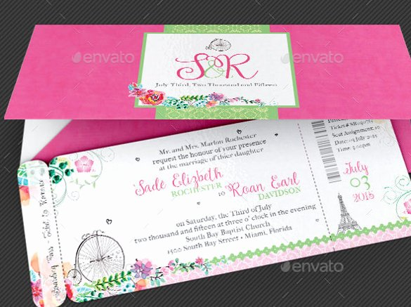 Boarding Pass Invitation Template Luxury 15 Wedding Reception Invitation Templates Free Psd Jpg Word format Download