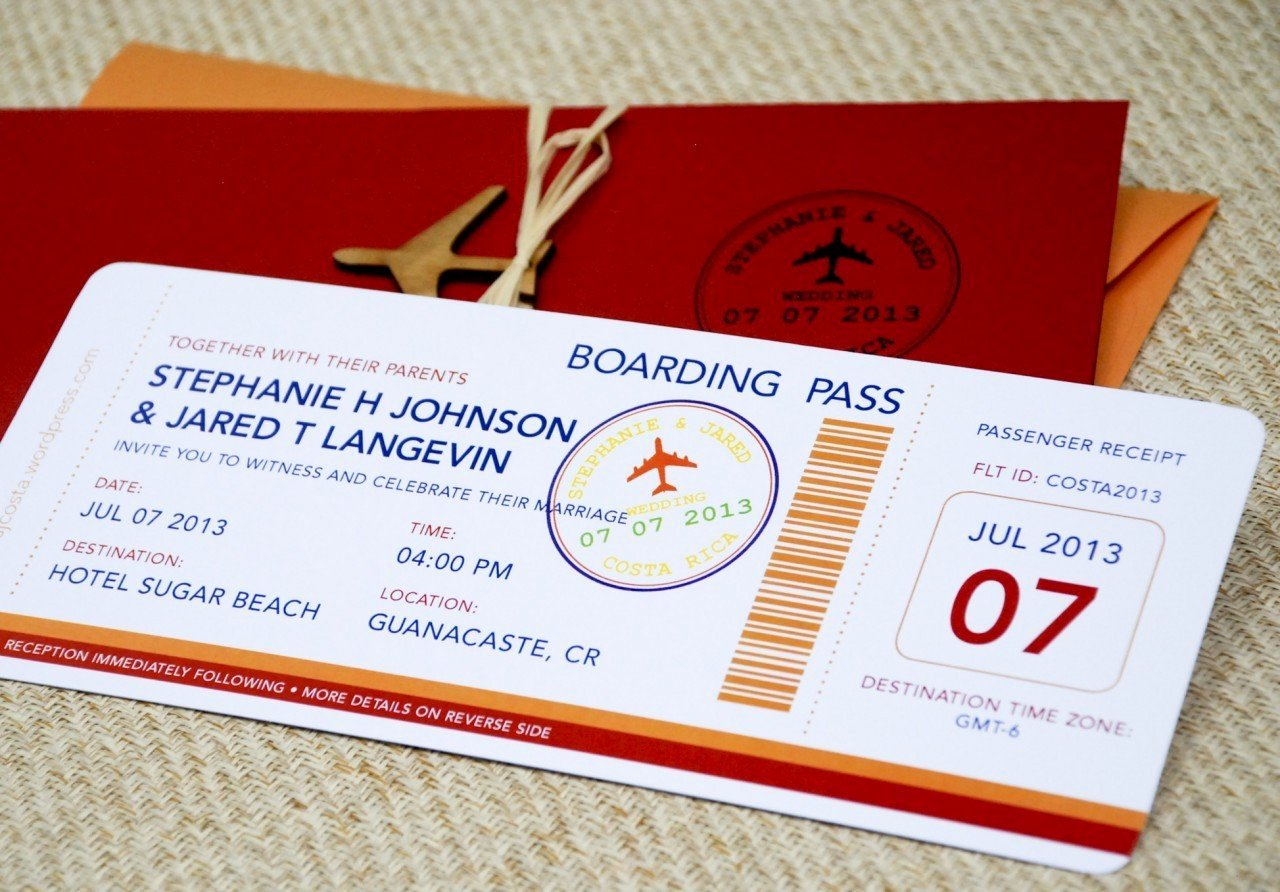 Boarding Pass Invitation Template Luxury Boarding Pass Wedding Invitation Template Wedding and Bridal Inspiration