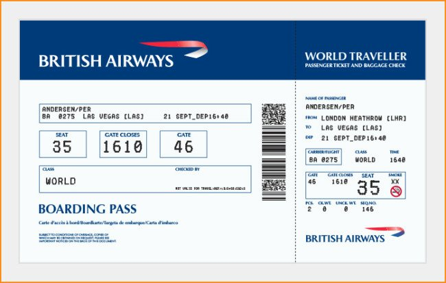 Boarding Pass Template Photoshop Awesome 27 Best Airline Boarding Pass Ticket Template Examples