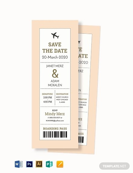 Boarding Pass Template Photoshop Beautiful 10 Wedding Ceremony Boarding Passes In Illustrator
