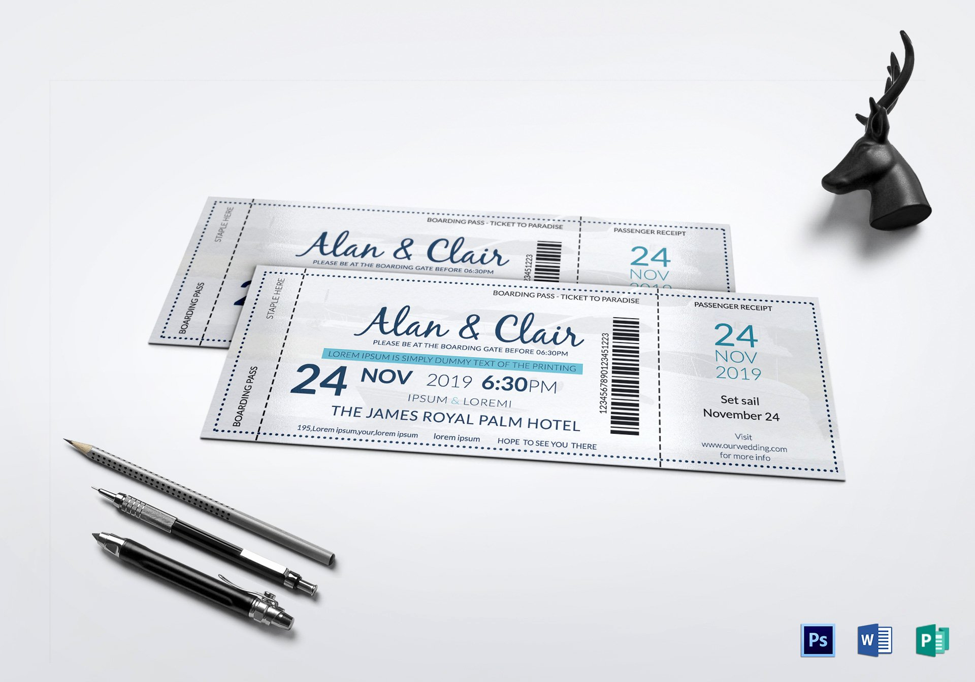 Boarding Pass Template Photoshop Best Of Boat Boarding Pass Invitation Ticket Design Template In