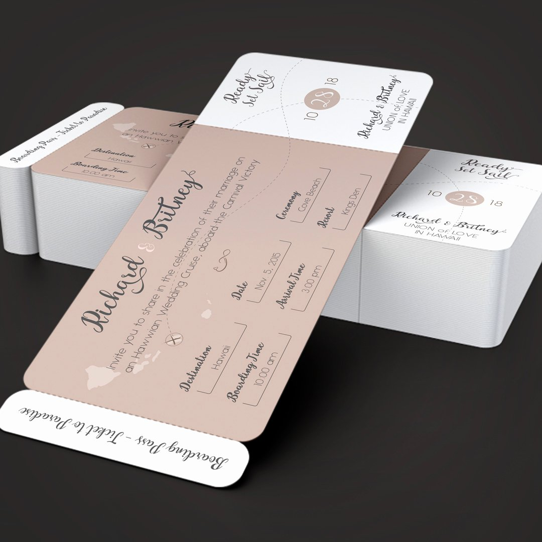 Boarding Pass Template Photoshop Best Of Pinky Wedding Boarding Pass Invitation Template On Behance