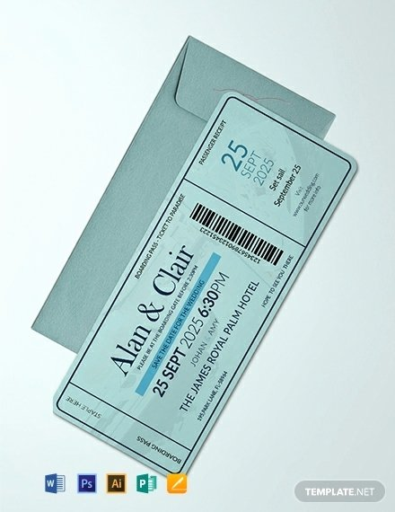 Boarding Pass Template Photoshop Lovely 10 Wedding Ceremony Boarding Passes In Illustrator
