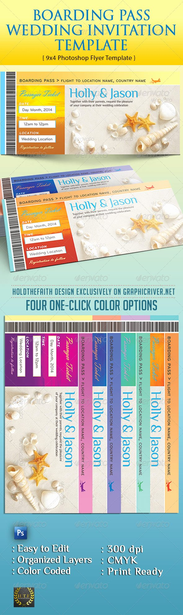 Boarding Pass Template Photoshop Lovely Boarding Pass Wedding Invitation Template by Holdthefaith