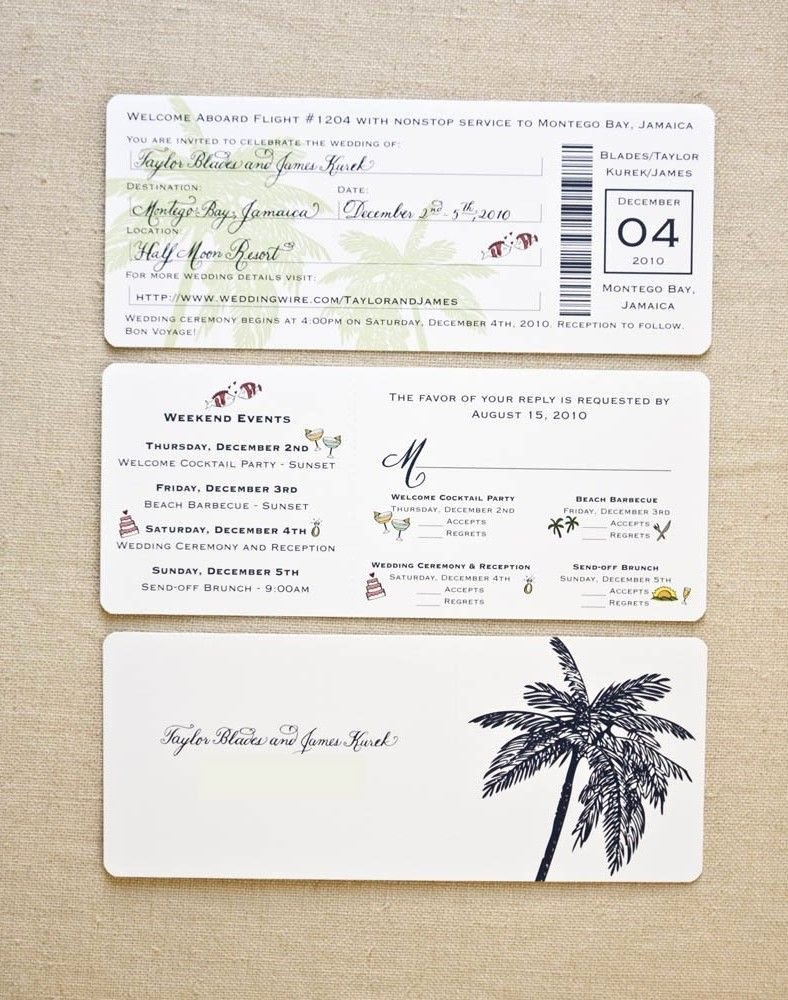 Boarding Pass Wedding Invitations Template Beautiful Image for Boarding Pass Wedding Invitation Template Our Dream Hawaiian Wedding