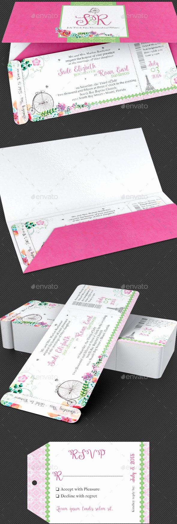 Boarding Pass Wedding Invitations Template Elegant 40 Best Wedding Invitation Psd Templates Designmaz