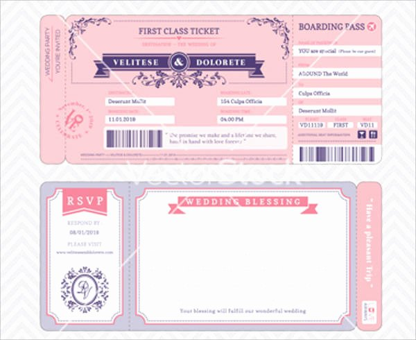 Boarding Pass Wedding Invitations Template Fresh 30 Free Invitation Template Download