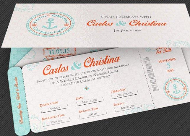 Boarding Pass Wedding Invitations Template Inspirational Wedding Cruise Boarding Pass Invitation Template