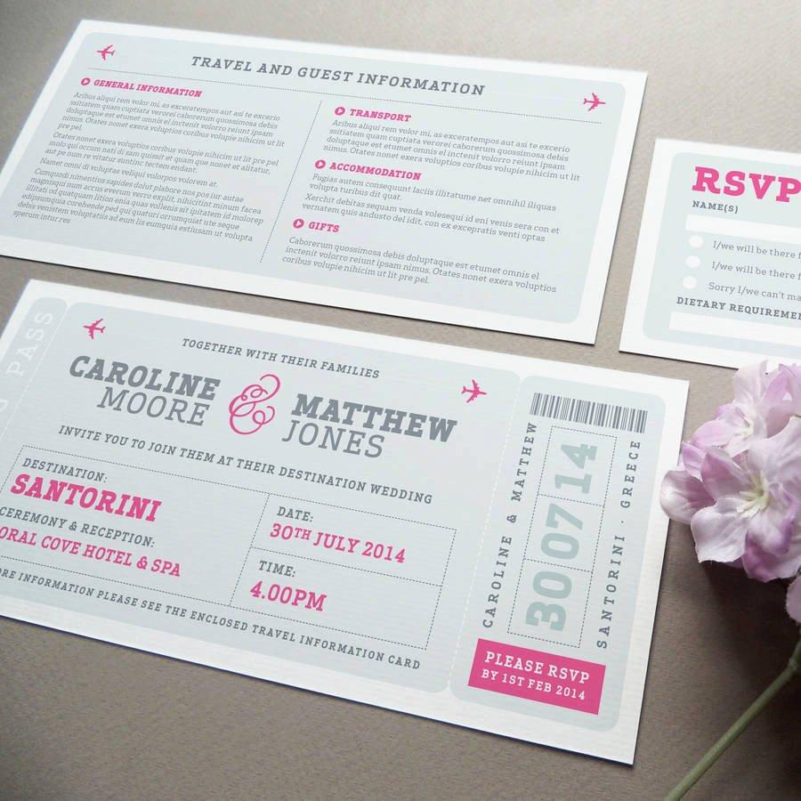 Boarding Pass Wedding Invitations Template Luxury Airline Boarding Pass Wedding Invitation by Project Pretty
