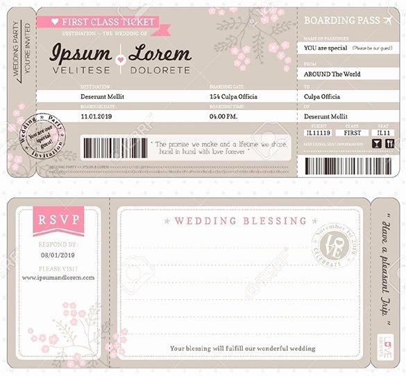Boarding Pass Wedding Invitations Template New Boarding Pass Invitation Template Cobypic