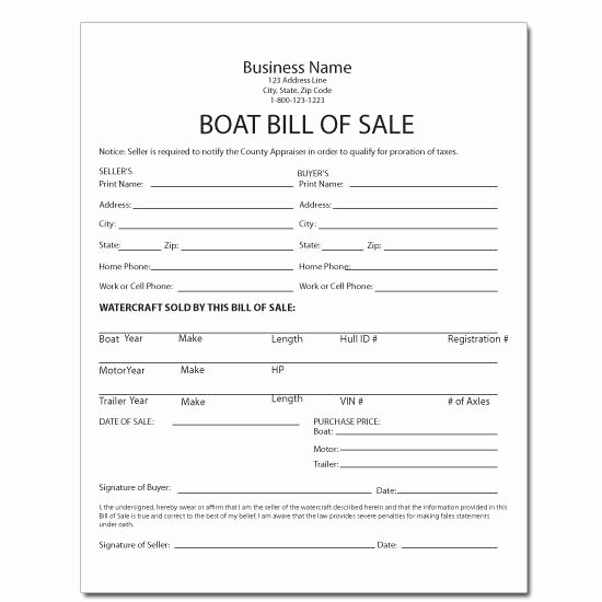 Boat Bill Of Sale Template Unique Equipment forms & Template Printing
