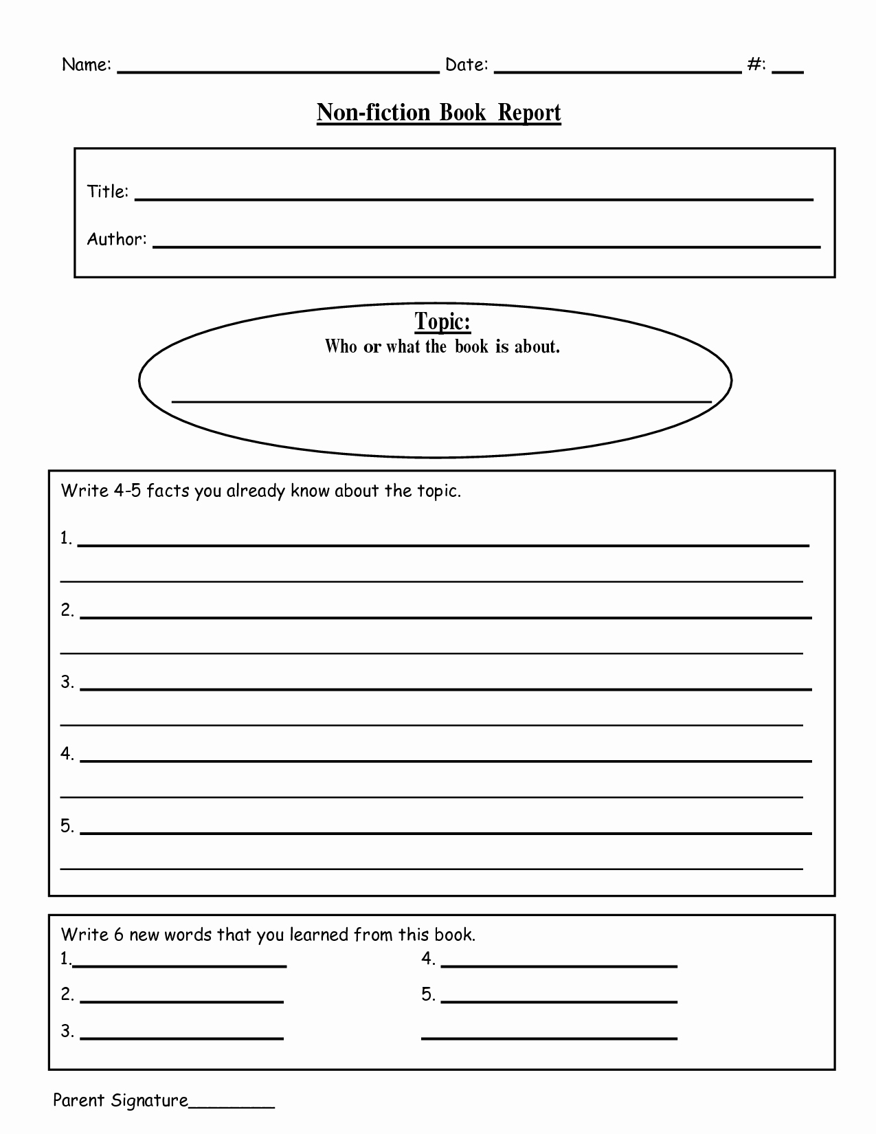 Book Report Examples 5th Grade Awesome Free Printable Book Report Templates Non Fiction Book Reportc School