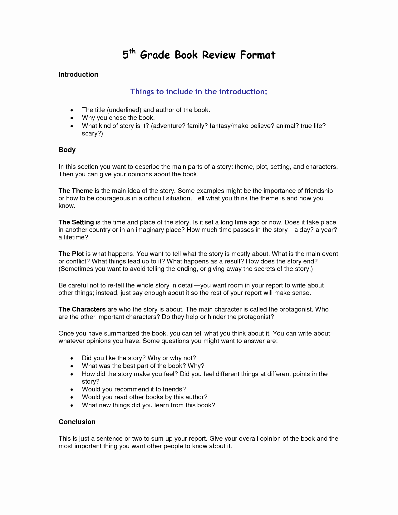 Book Report Examples 5th Grade Fresh Best S Of Book Report Template 5th Grade 5th Grade Book Report Template 6th Grade Book