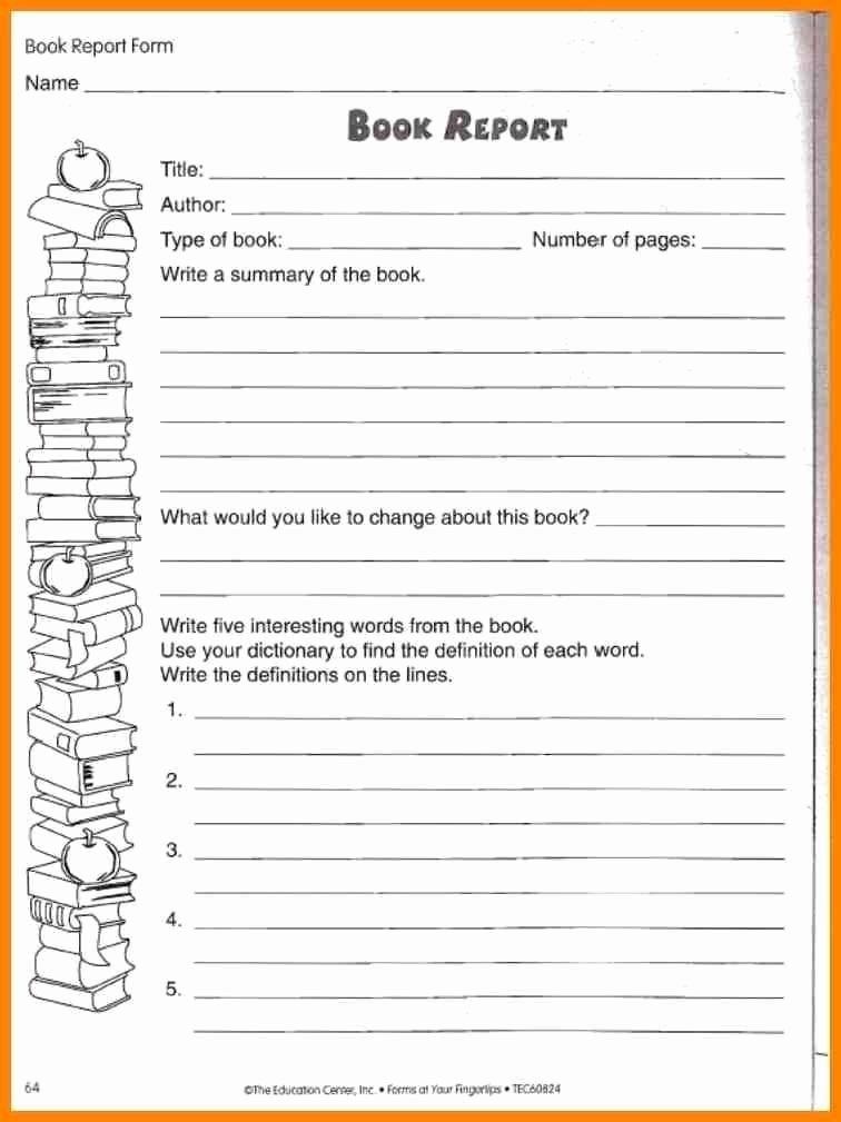 Book Report Examples 5th Grade Unique Sample 5th Grade Book Report Template] Book Report format 8 Free within 5th Grade Book Report