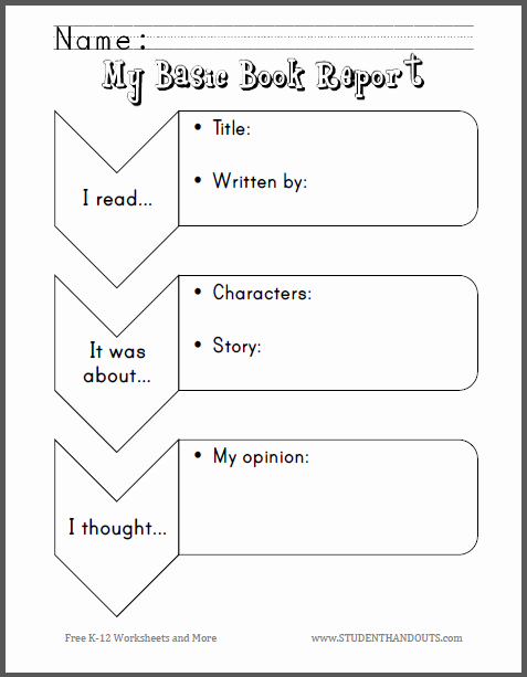 Book Review Template Pdf Awesome My Basic Book Report for Primary Grades Free to Print Pdf File Primary Grades