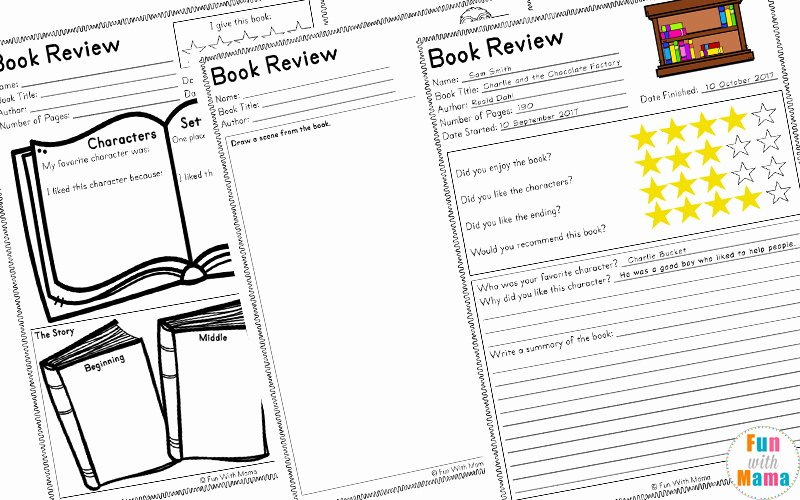 Book Review Template Pdf Beautiful Reading Log Pdf and Book Report Templates Fun with Mama