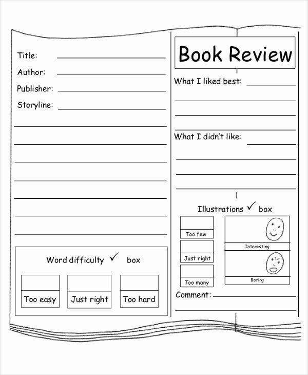 Book Review Template Pdf Elegant 10 Sample Book Report Free Sample Example format Download