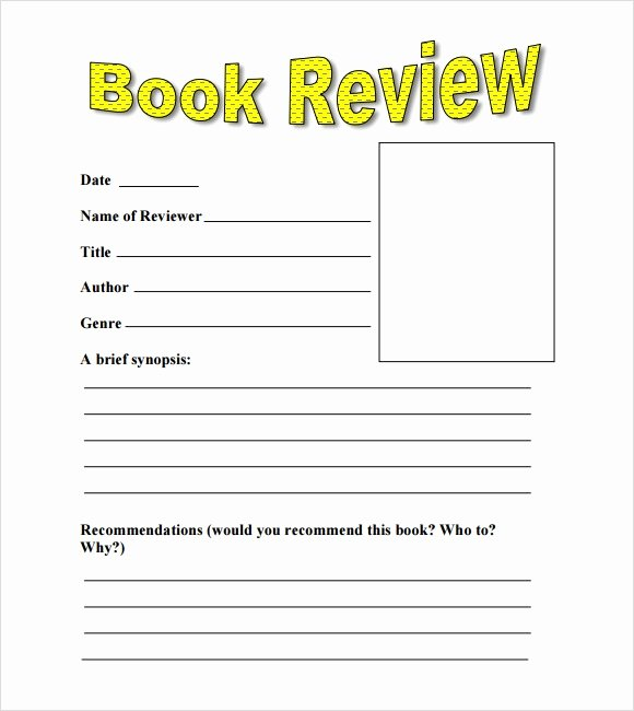 Book Review Template Pdf New 10 Book Review Templates – Pdf Word