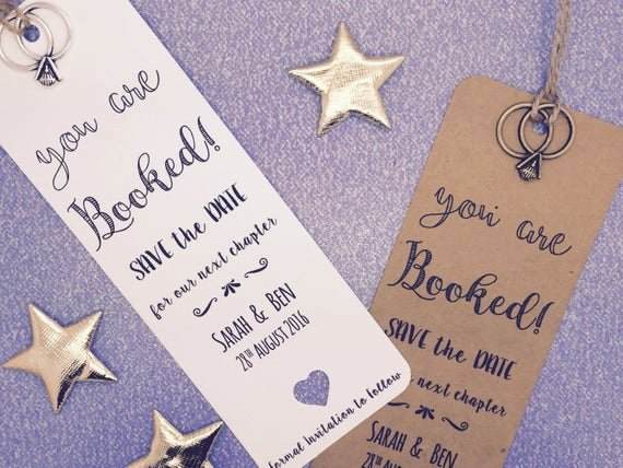 Bookmark Save the Date Awesome Bookmark Save the Date evening Card Wedding by Greenfoxytags