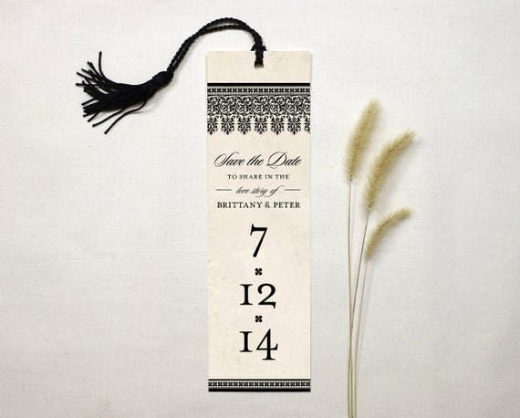 Bookmark Save the Date Fresh Love Story Save the Date Bookmark