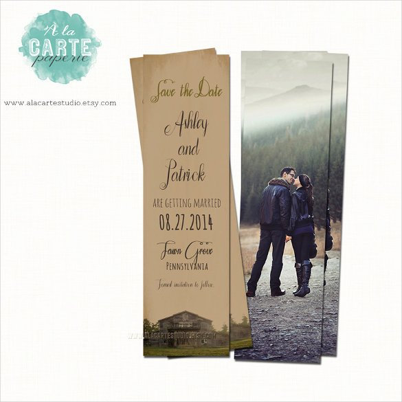 Bookmark Save the Date Lovely 21 Save the Date Bookmark Templates – Free Sample Example format Download