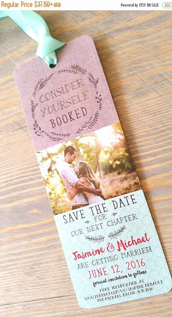 Bookmark Save the Date New Save the Date Bookmark Save the Date by Raspberrycreative On Etsy