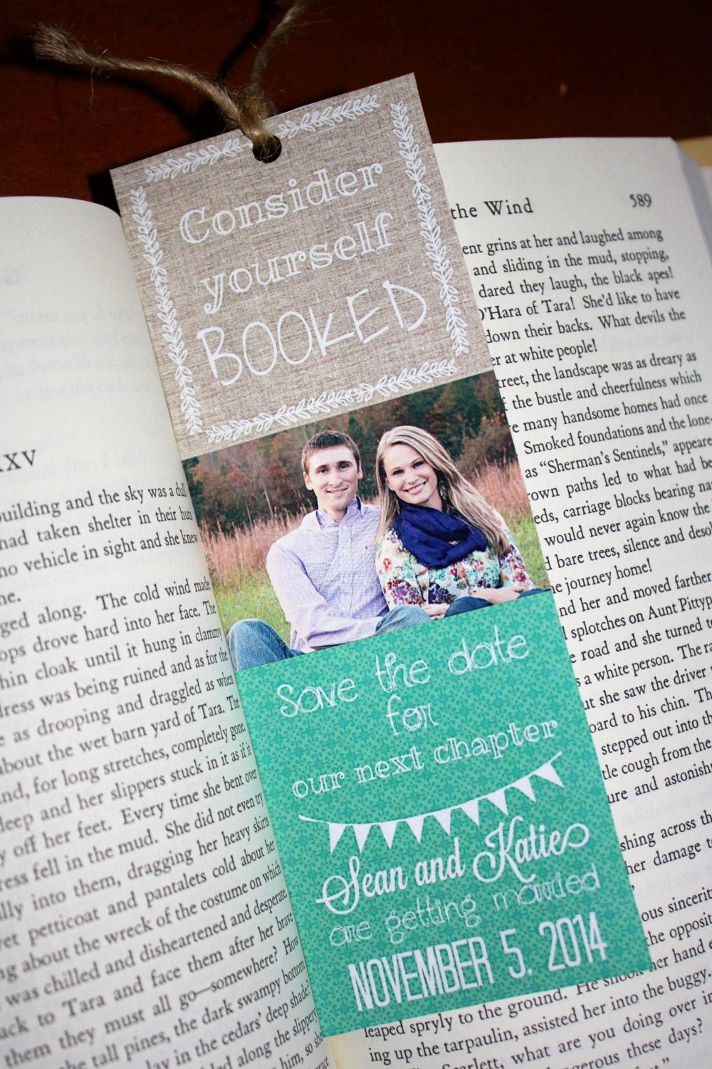 Bookmark Save the Date New Save the Date Bookmarks – Custom Save the Dates – Literary Library Weddings Custom Colors and