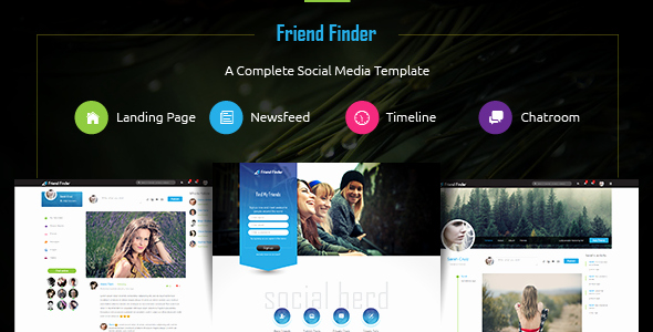 Bootstrap social Network Template Best Of Friend Finder A social Network HTML5 Template by Thunder Team