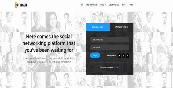 Bootstrap social Network Template Luxury 15 social Network Bootstrap themes Free Website Templates